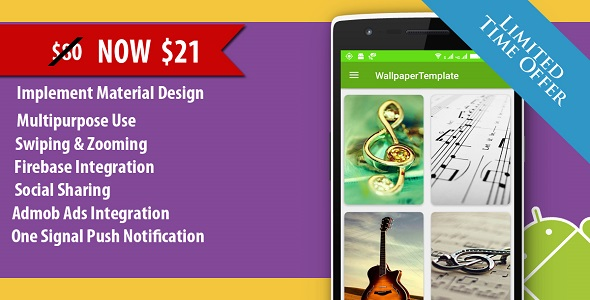 HD Wallpaper Multipurpose Android App With CMS Admin Panel - CodeCanyon Item for Sale