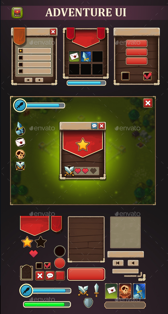 Adventure UI - User Interfaces Game Assets