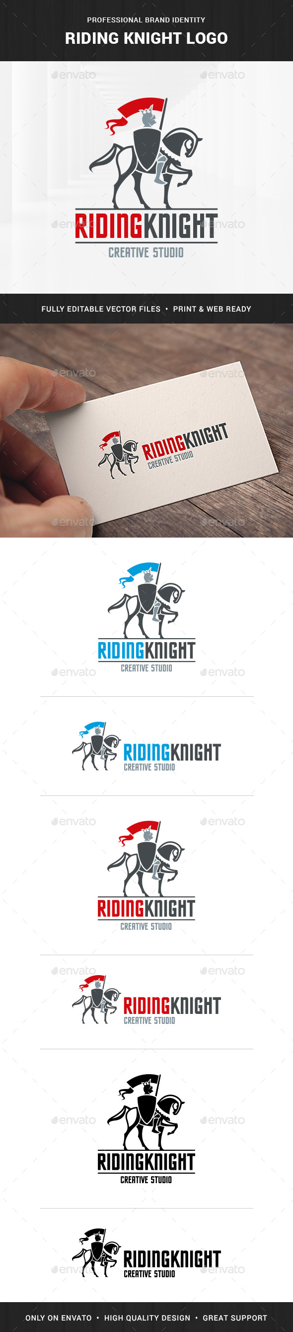 Riding Knight Logo Template - Humans Logo Templates