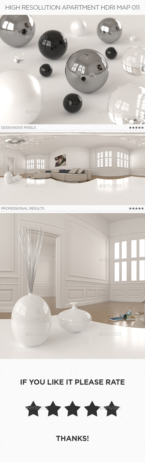 High Resolution Apartment HDRi Map 011 - 3DOcean Item for Sale