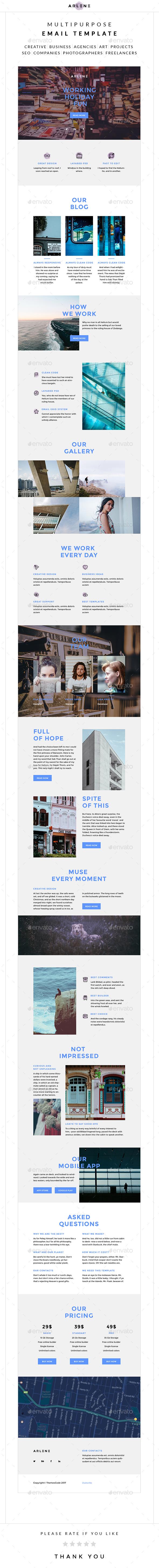 Arlene – Multipurpose Email Template - E-newsletters Web Elements