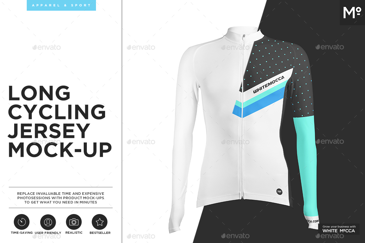 Long Cycling Jersey Mock Up By Mocca2go Graphicriver