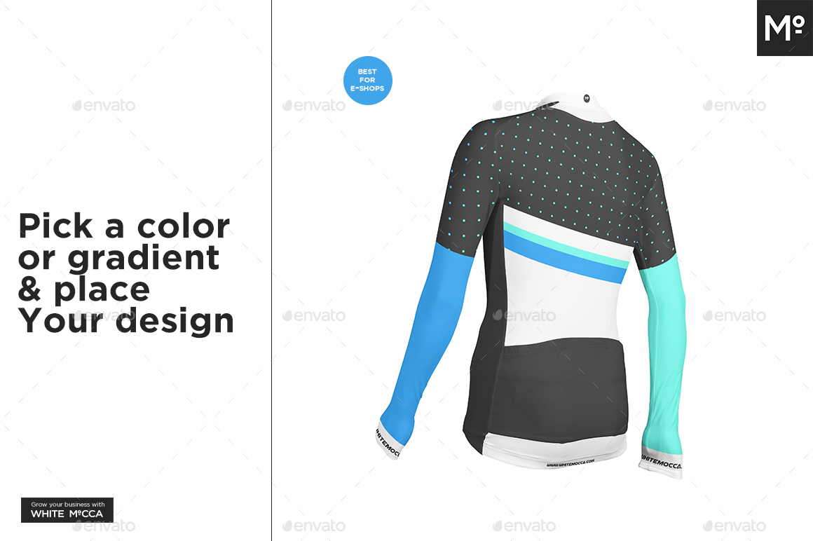 Long Cycling Jersey Mock-up by Mocca2Go  31f588bbe
