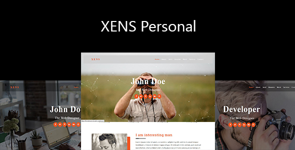 Xens-Personal / Portfolio Responsive Template - Personal Site Templates