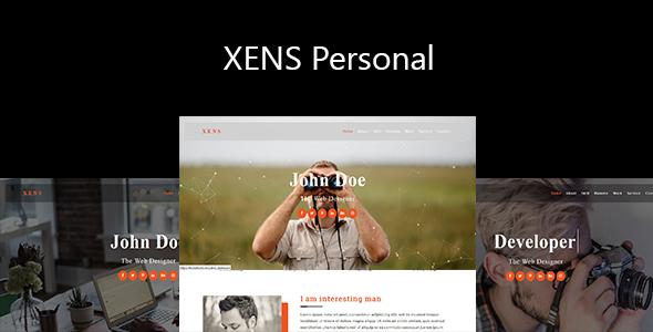 Xens-Personal / Portfolio Responsive Template