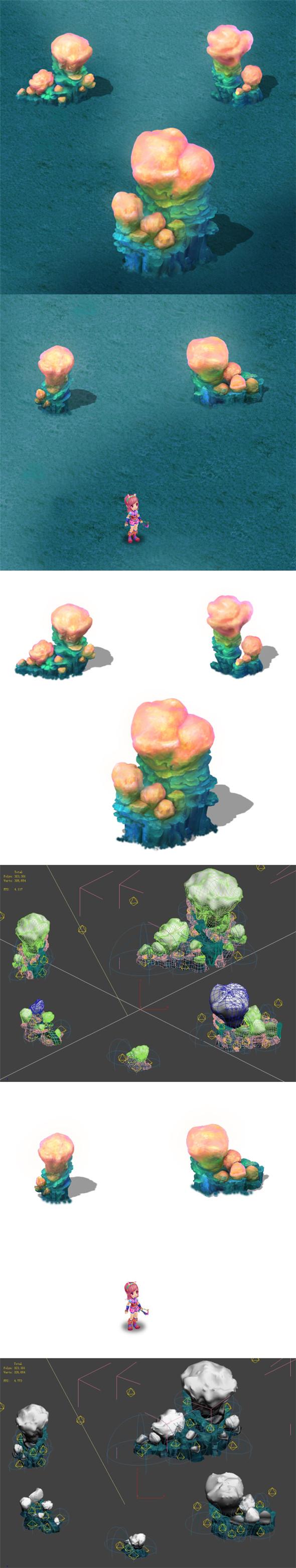 Submarine Cartoon World - Sarcoma Coral 03 - 3DOcean Item for Sale
