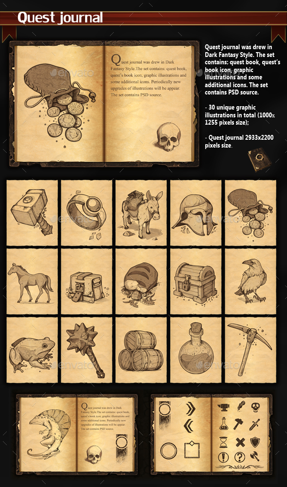 Quest Journal - Miscellaneous Game Assets