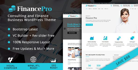 FinancePro - Consulting and Finance Business WordPress Theme