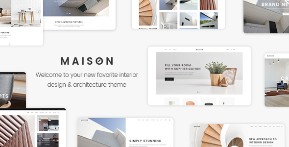 Maison - A Modern Theme for Architects and Interior Designers