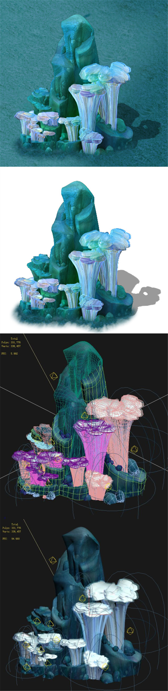 Submarine Cartoon World - Coralstone 02 - 3DOcean Item for Sale