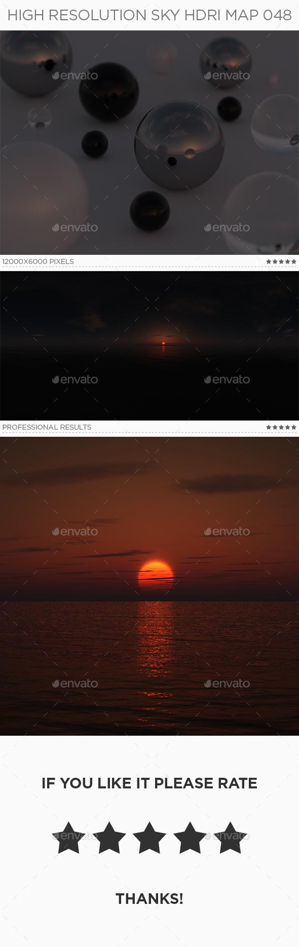 High Resolution Sky HDRi Map 048 - 3DOcean Item for Sale