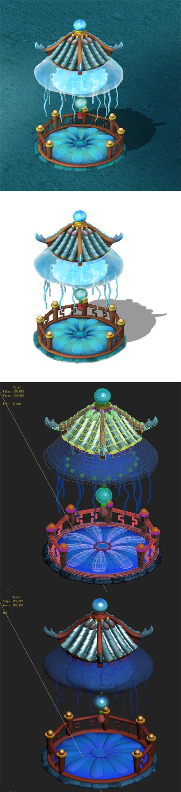 Submarine cartoon world - jellyfish pavilion - 3DOcean Item for Sale