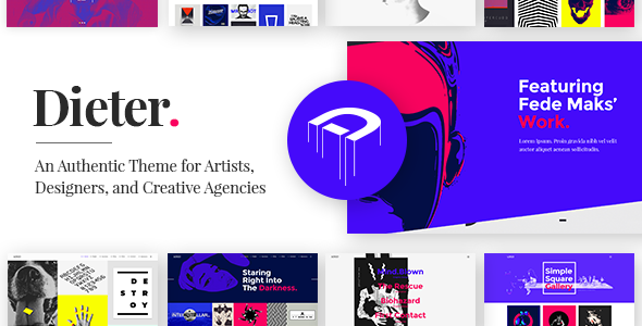 Dieter – An Authentic Theme for Artists, Designers, and Creative Agencies