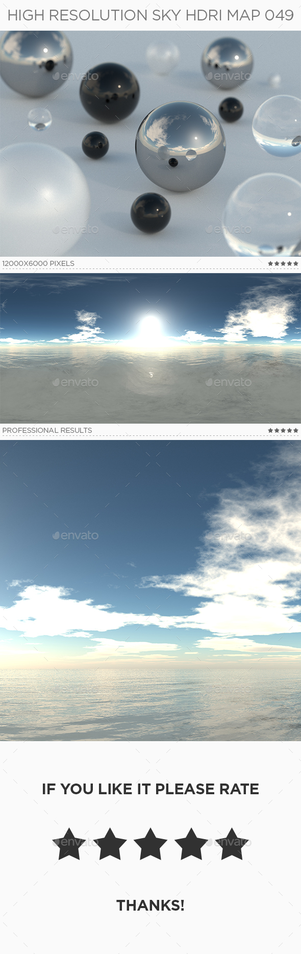 High Resolution Sky HDRi Map 049 - 3DOcean Item for Sale