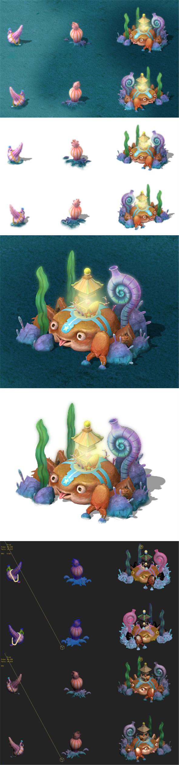 Submarine cartoon world - wild decorations - 3DOcean Item for Sale