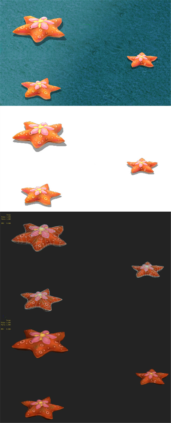 Submarine cartoon world - love five-pointed star - 3DOcean Item for Sale