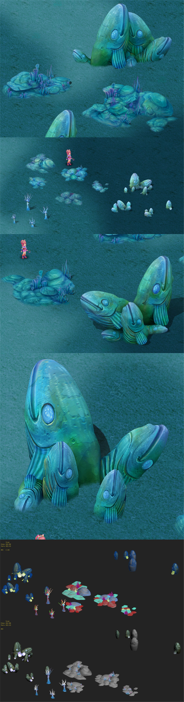 Submarine Cartoon World - Fishman Elegy Surface - 3DOcean Item for Sale