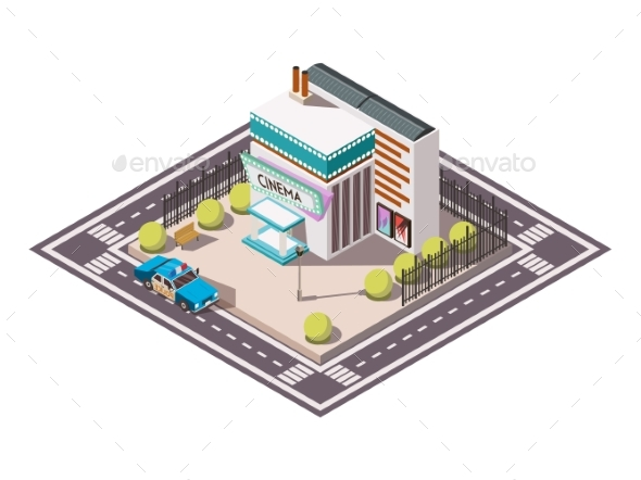 Rescue Service Isometric Set - Buildings Objects