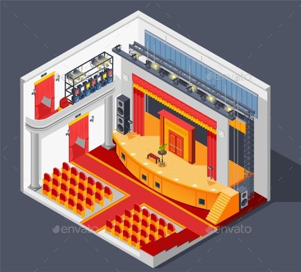 Theatre Interior Composition - Miscellaneous Vectors