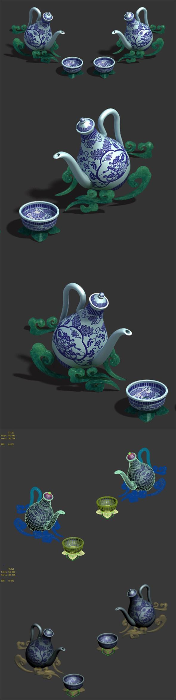 Wine Square - Wine Pot - 3DOcean Item for Sale