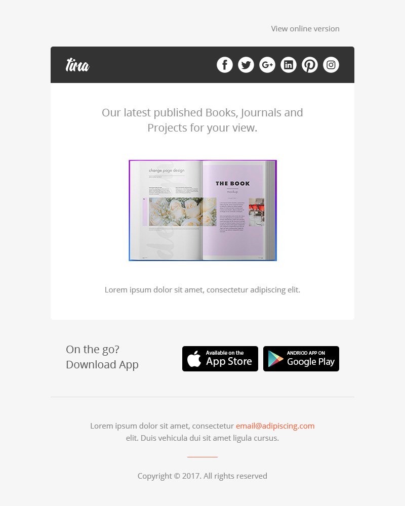 Tima Multipurpose Email Notifications Newsletter Templates By