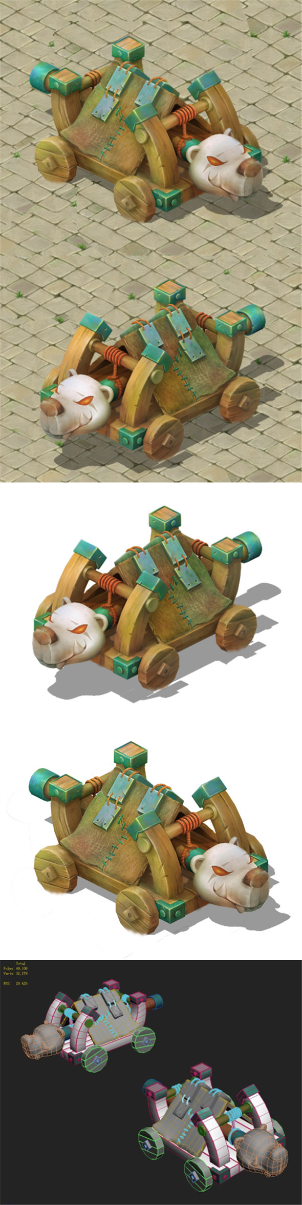 Cartoon version - Polar bear siege car - 3DOcean Item for Sale