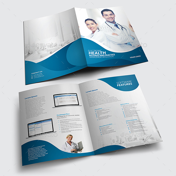 Wonderful Bi Fold Brochure Template   Brochures Print Templates
