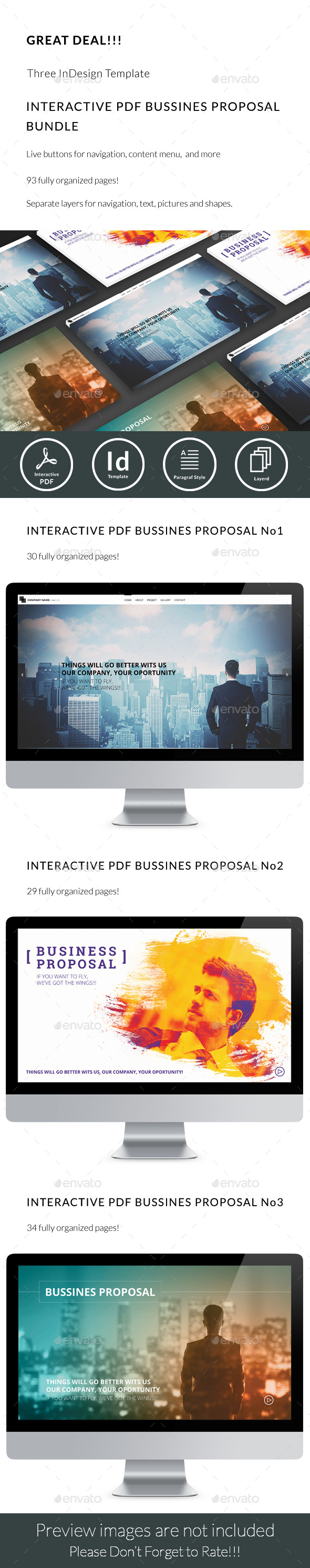 Interactive PDF Business Proposal Bundle - ePublishing