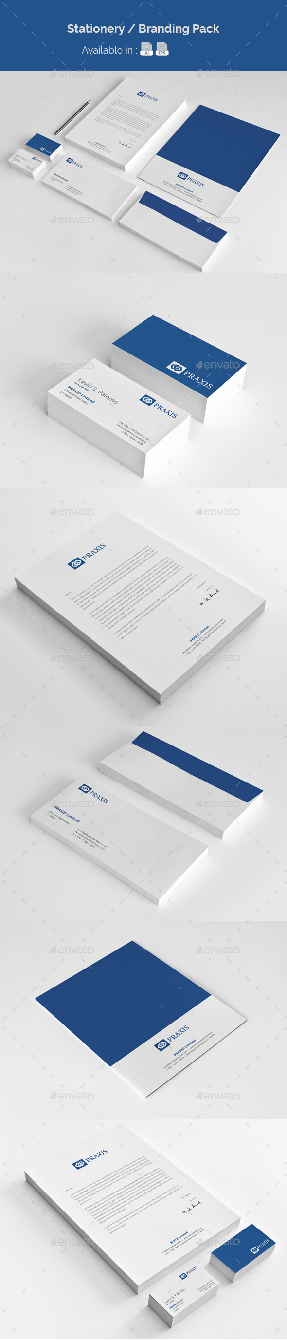 Stationery Branding Pack - Stationery Print Templates