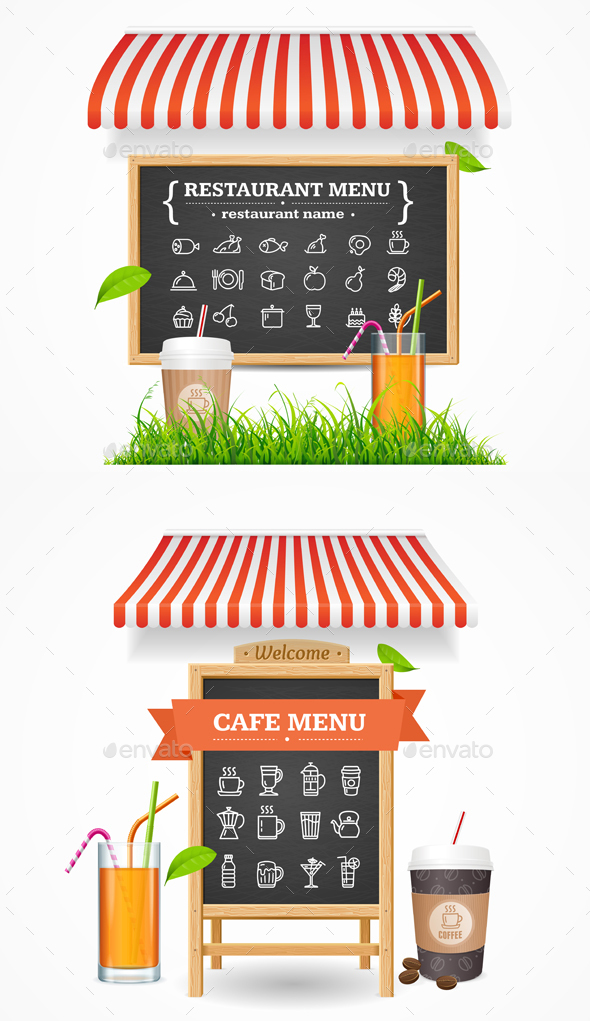 Cafe Restaurant Menu Concept - Concepts Business