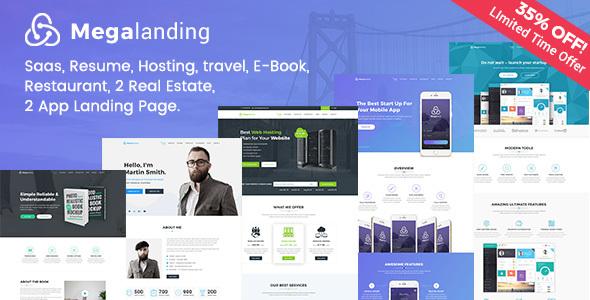 Megalanding -  Multipurpose Landing Page - PSD Templates