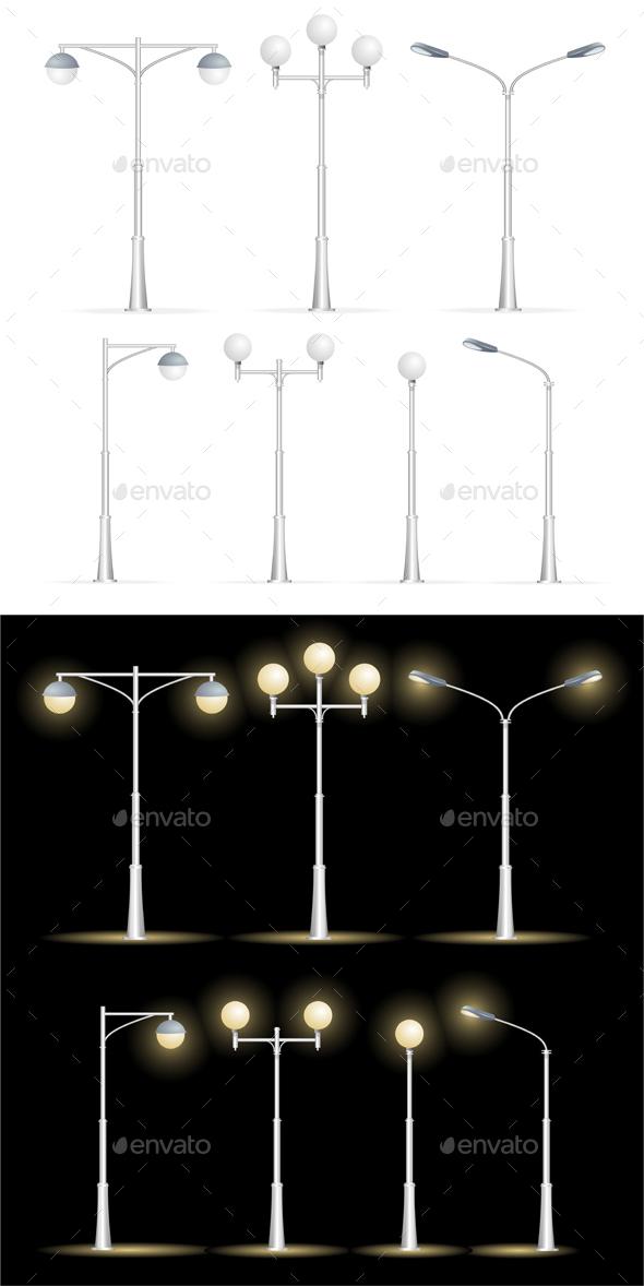 Lanterns Street Set - Man-made Objects Objects