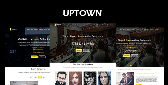 Uptown-Event & Conference Responsive HTML5 Template - Events Entertainment