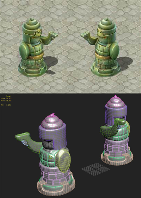 Cartoon version - statue man - 3DOcean Item for Sale