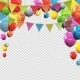 Glossy Helium Balloons with Blank Copy Space - GraphicRiver Item for Sale