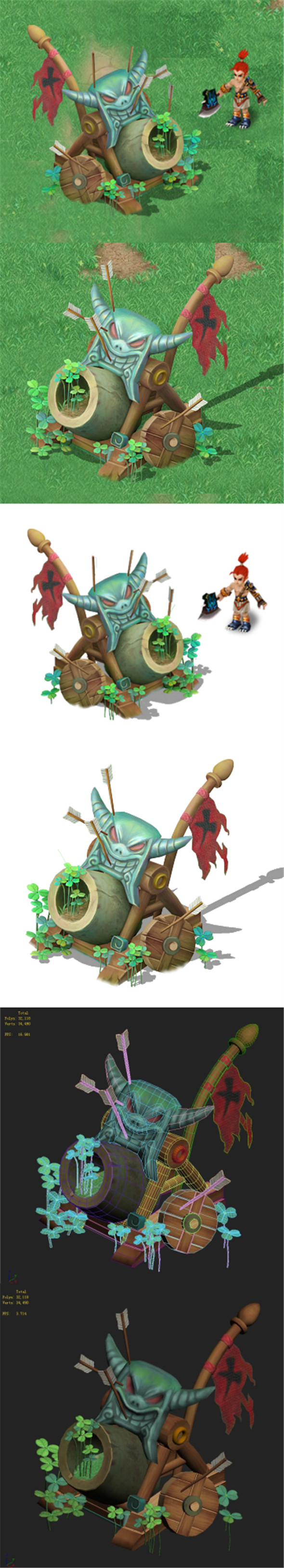 Cartoon version - Wind magic cannon - 3DOcean Item for Sale