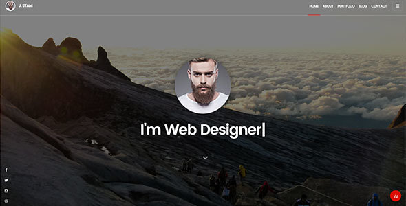 Creative Personal Portfolio Template – J. Stam