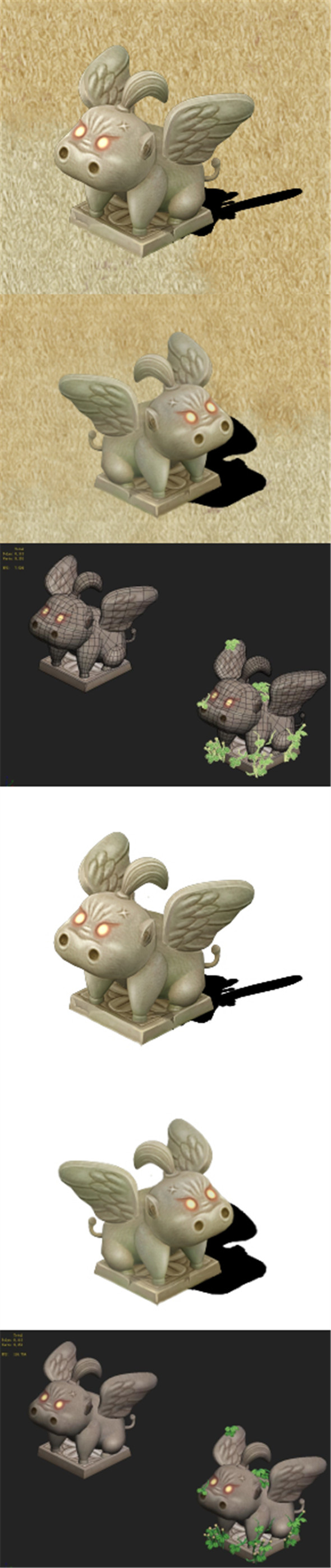 Cartoon version - Fog magic Obediently beast - 3DOcean Item for Sale