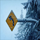 Road Sign In Heavy Snowfall - VideoHive Item for Sale
