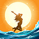 Girl Running on The Beach - GraphicRiver Item for Sale