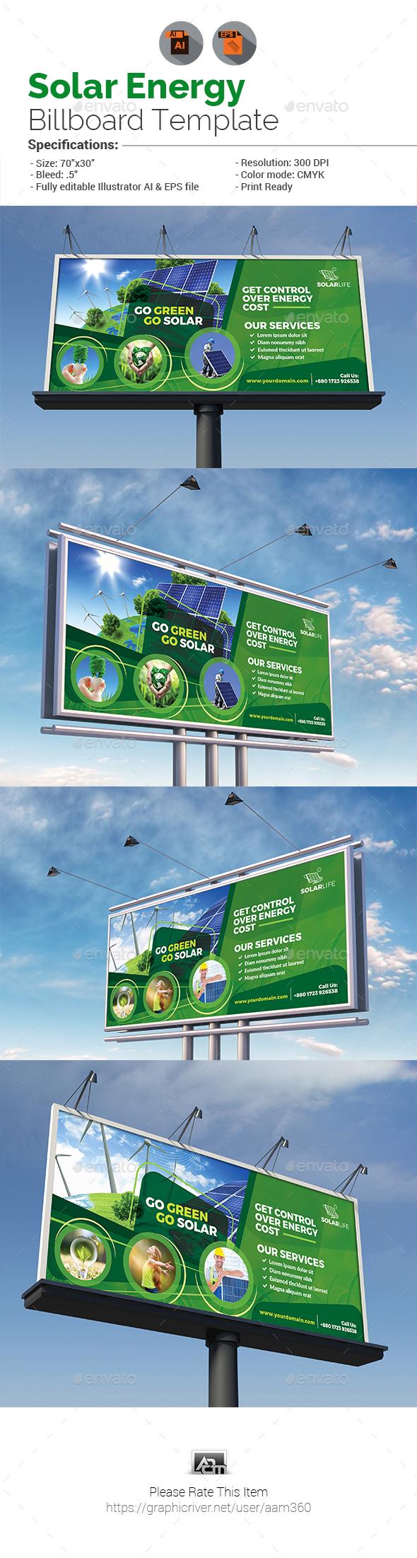 Solar Energy Billboard - Signage Print Templates
