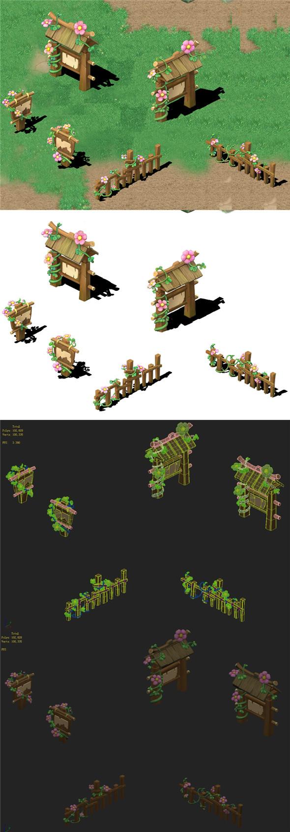 Cartoon version - flower sign - 3DOcean Item for Sale