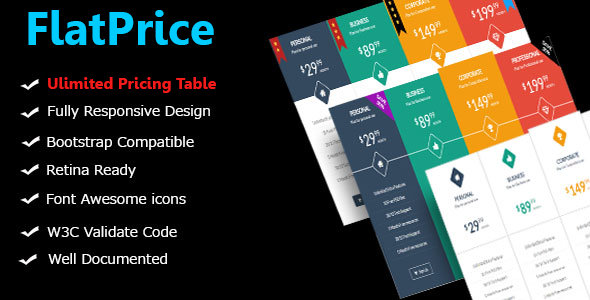 FlatPrice - Wordpress Pricing Tables - CodeCanyon Item for Sale