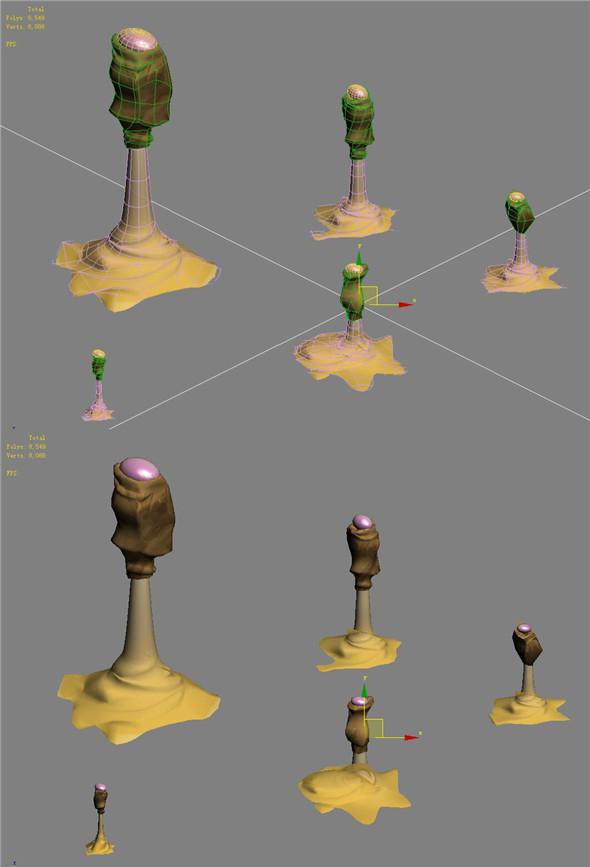 Cartoon version - sand funnel - 3DOcean Item for Sale