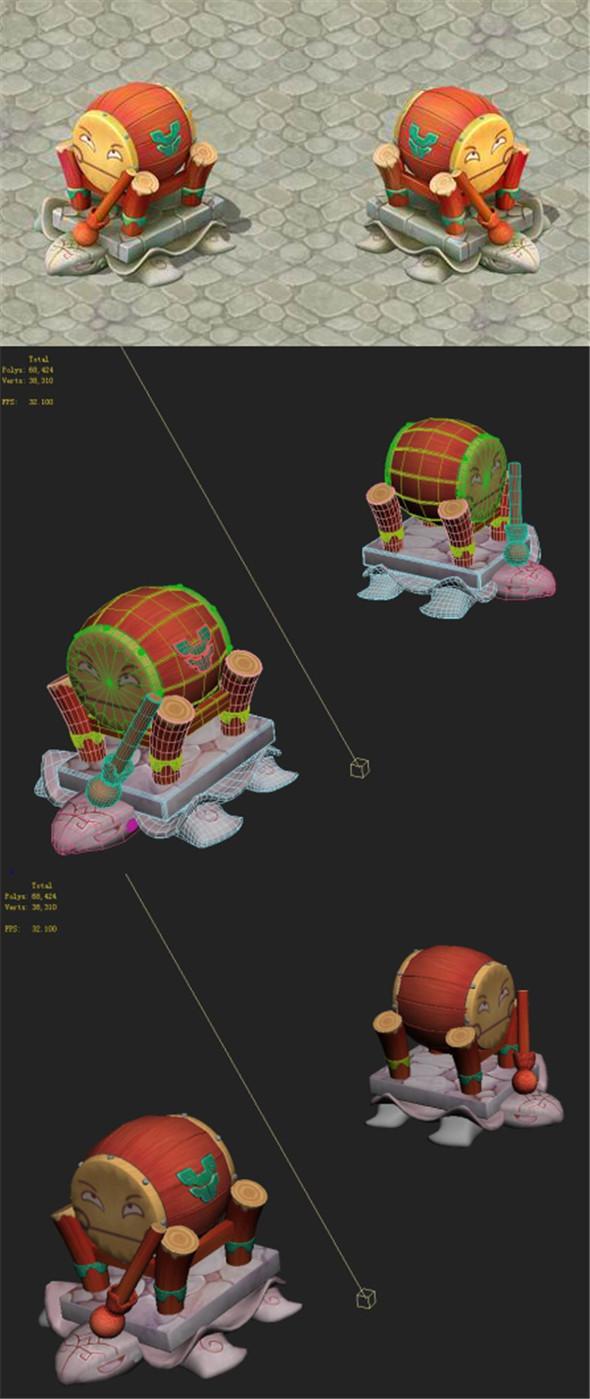 Cartoon version - Snare drums - 3DOcean Item for Sale
