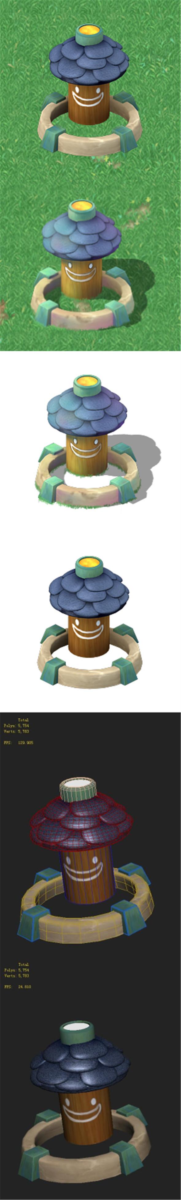 Cartoon version - small wave flower garden - 3DOcean Item for Sale