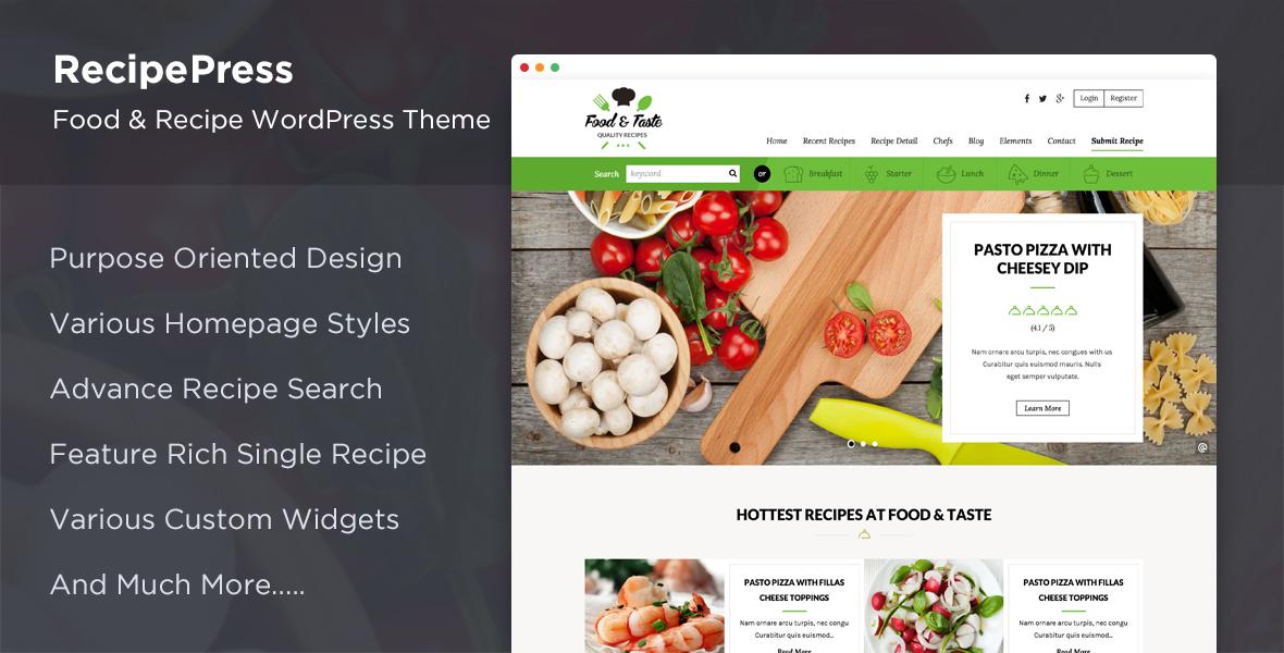 Recipepress food recipes premium wordpress theme by inspirythemes screenshots01shreenshotg forumfinder Image collections