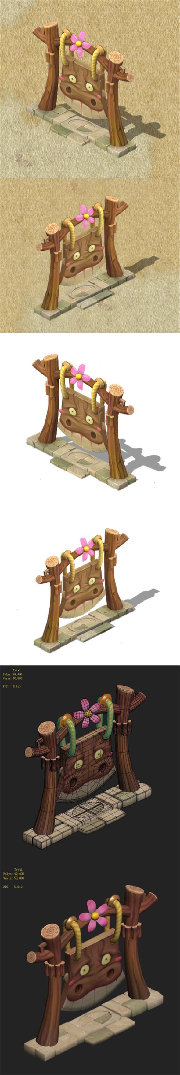 Cartoon version - shame shame echo board - 3DOcean Item for Sale