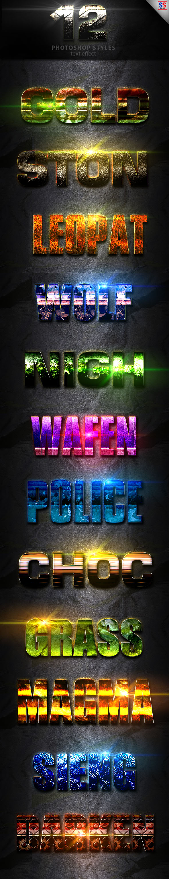 Light Photoshop Text Effect Vol 9 - Text Effects Styles