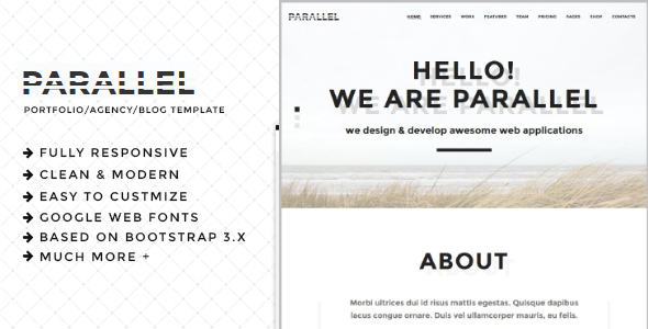 Parallel - Minimal Agency / Portfolio HTML5 Template - Creative Site Templates